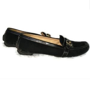 Coach driving loafers black size 8 Suzie flats
